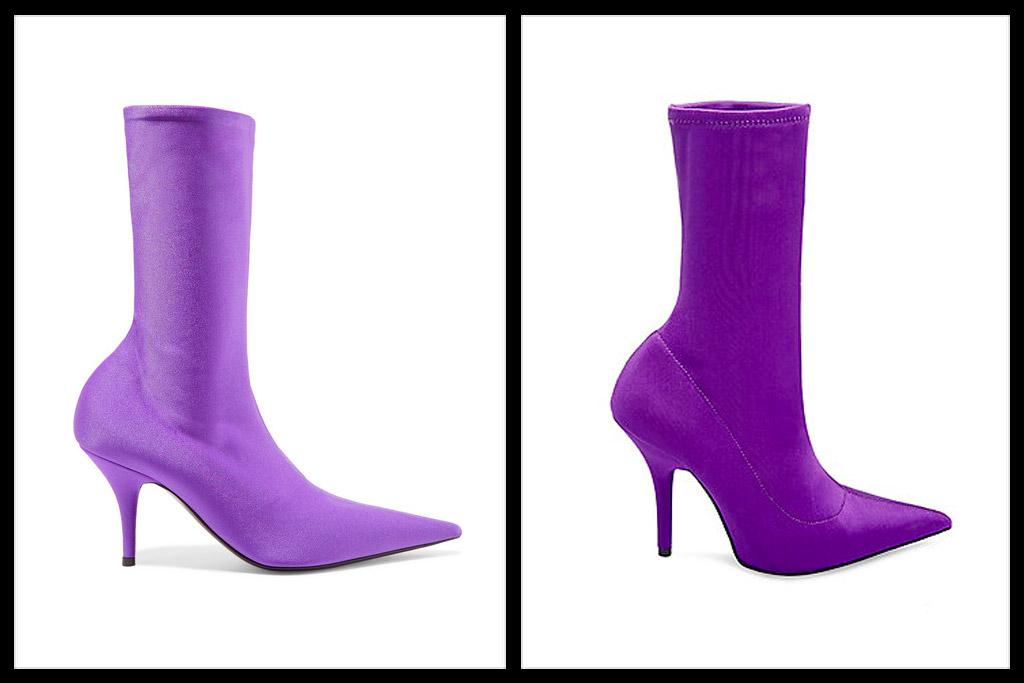 balenciaga knife boots purple, steve madden mimi boots purple