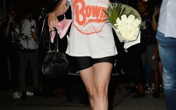 Celebrities Wearing Heels with Shorts This Summer