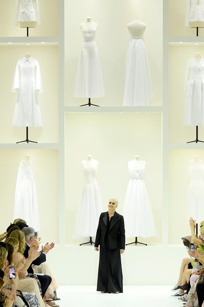 dior haute couture, Maria Grazia Chiuri on the catwalk