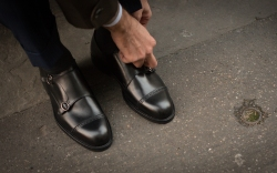 A pair of double monk straps