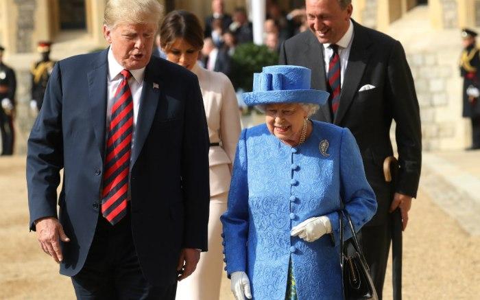 President Trump & Queen Elizabeth