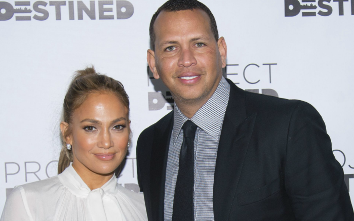 Jennifer Lopez and Alex Rodriguez attend the Project Destined Bronx Bootcamp at Yankee Stadium in New York.