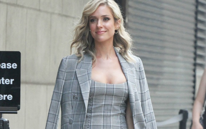 Kristin Cavallari wears plaid look in the Big Apple.