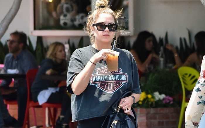 Ashley Benson steps out for some coffee in Los Angeles.