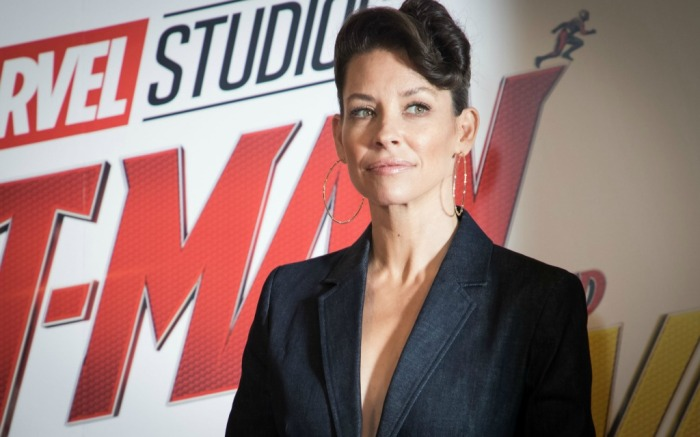 Evangeline Lilly at the UK press tour for 'Ant Man and The Wasp.'