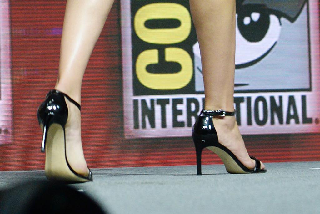 Gal Gadot, sandals, Comic Con, San Diego