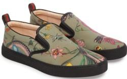 Gucci Flora Snake Slip-On Sneaker