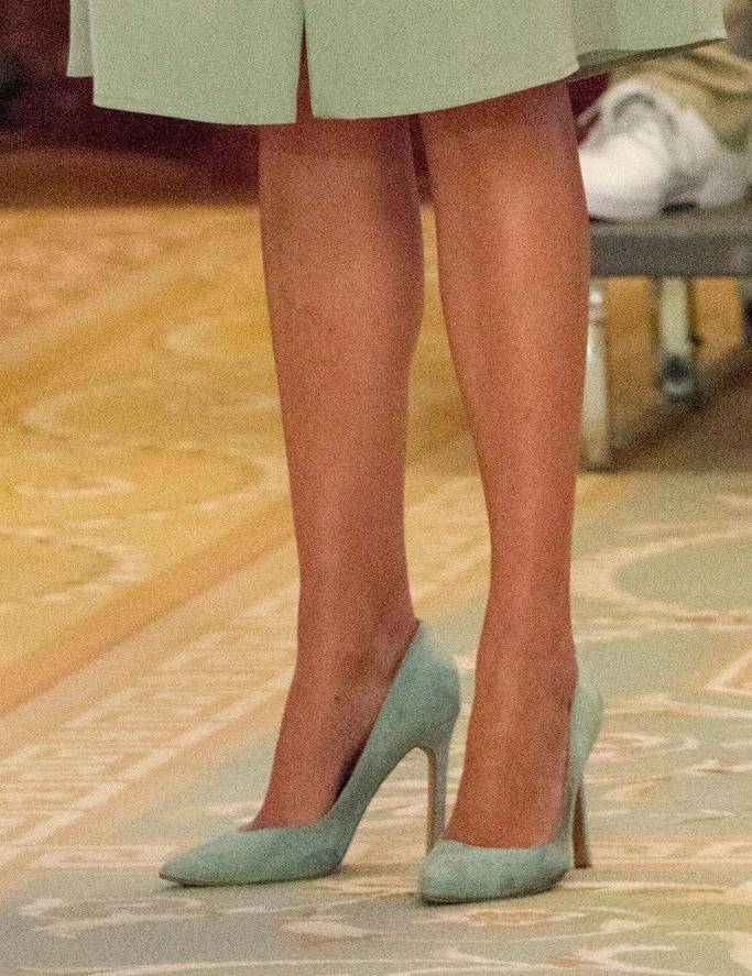 ivanka trump, carra pumps, green ralph lauren karen dress, white house