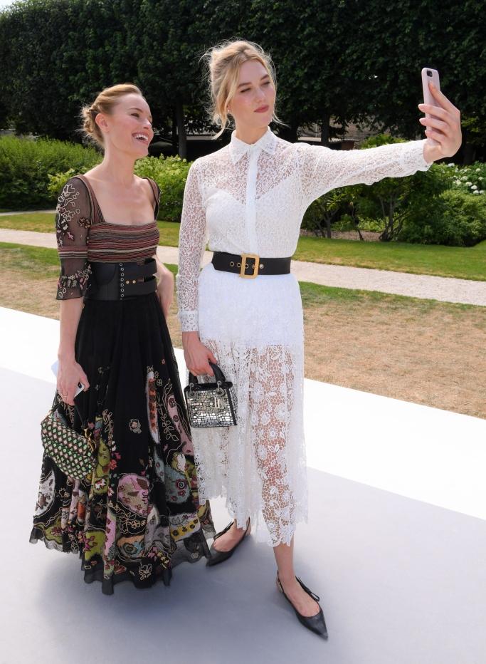kate bosworth, karlie kloss, paris haute couture fashion week, dior front row
