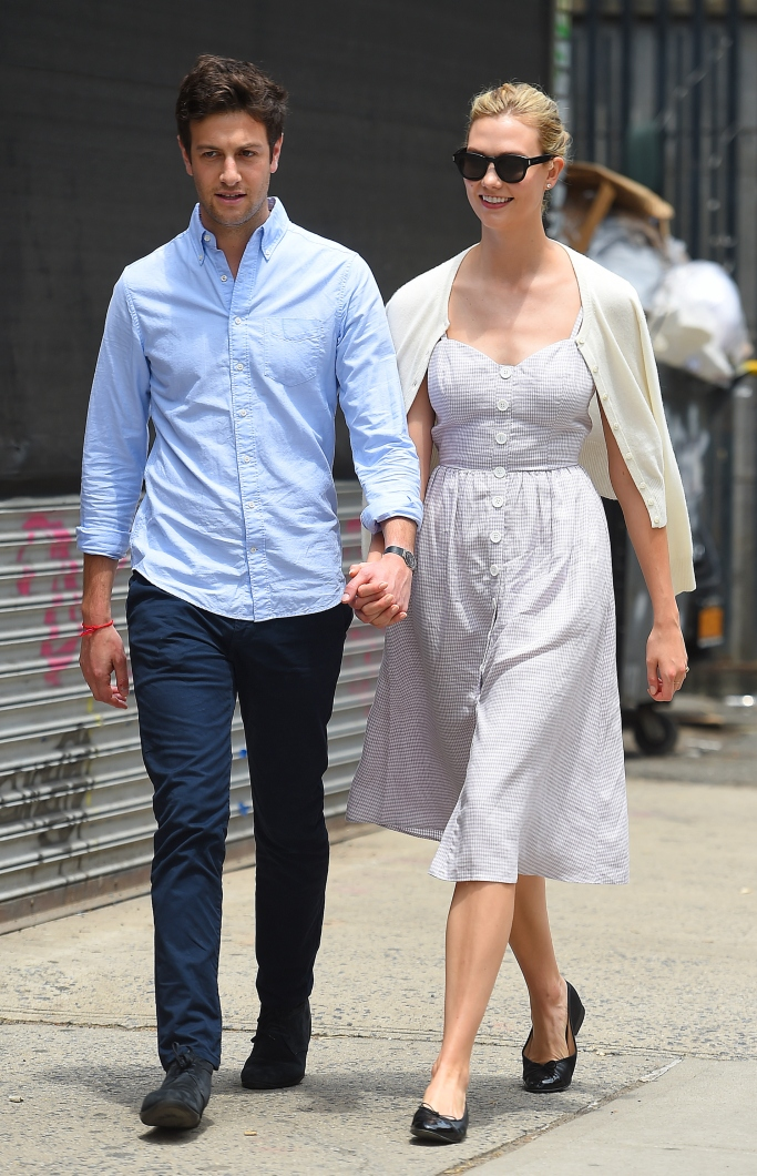 karlie kloss, josh kushner, street style, couple style