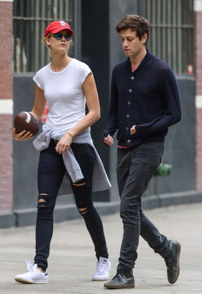 karlie kloss, josh kushner, street style, couples style