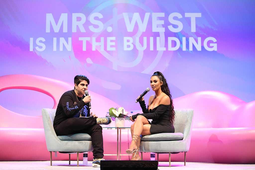 Kim Kardashian guest stars at Beautycon.