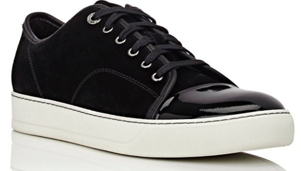 Lanvin Patent Cap-Toe Sneaker