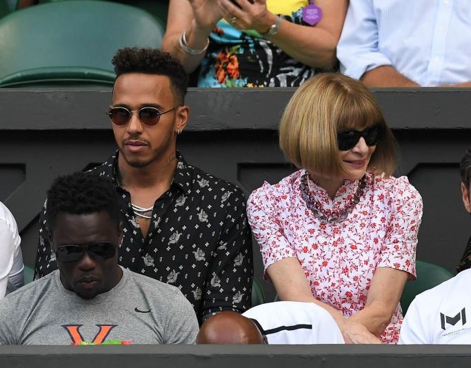 Lewis Hamilton and Anna Wintour