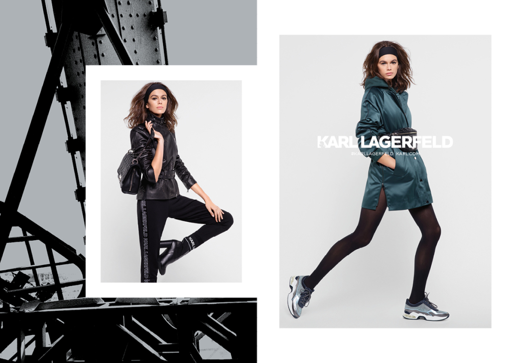 Karl Lagerfeld fall '18 campaign featuring Kaia Gerber.