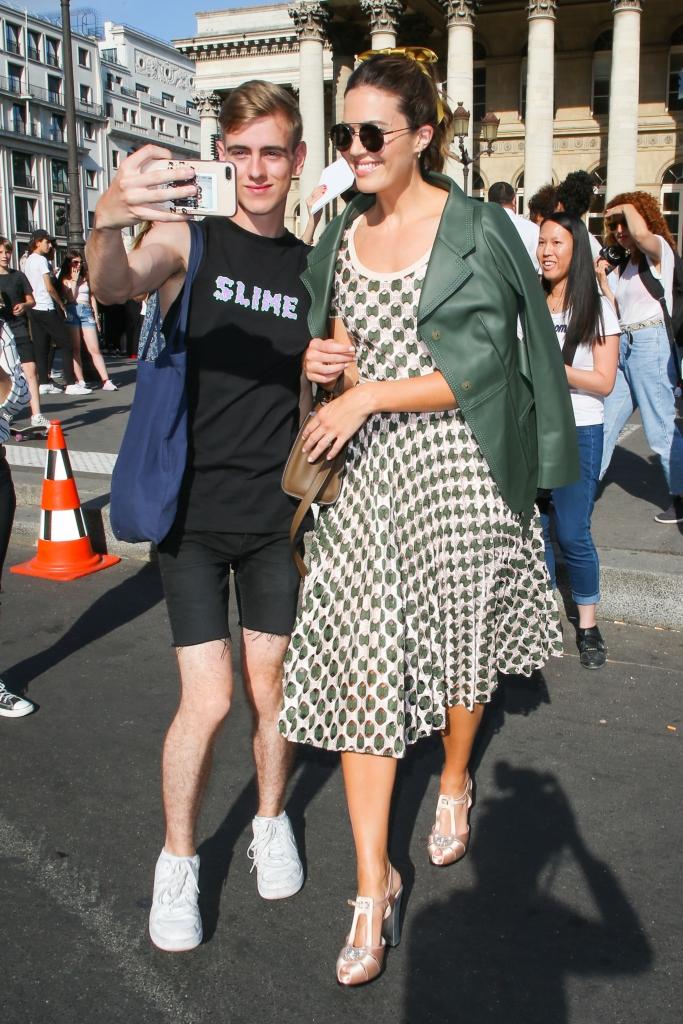 mandy moore, fendi debut haute couture show
