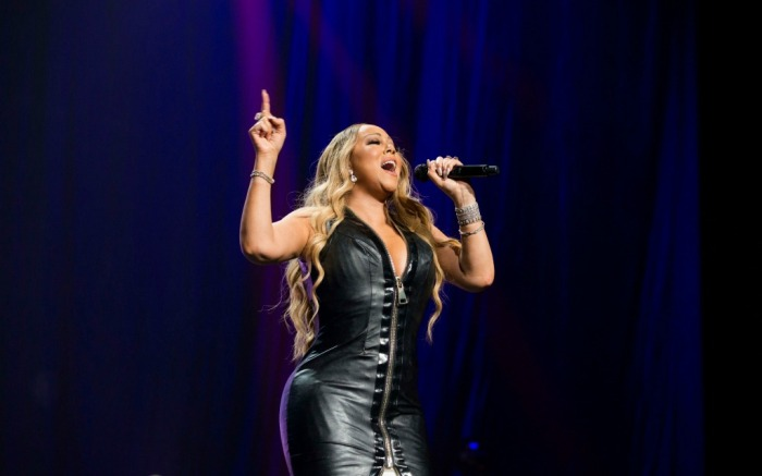 Mariah Carey takes the stage at the BB&T center in Florida.