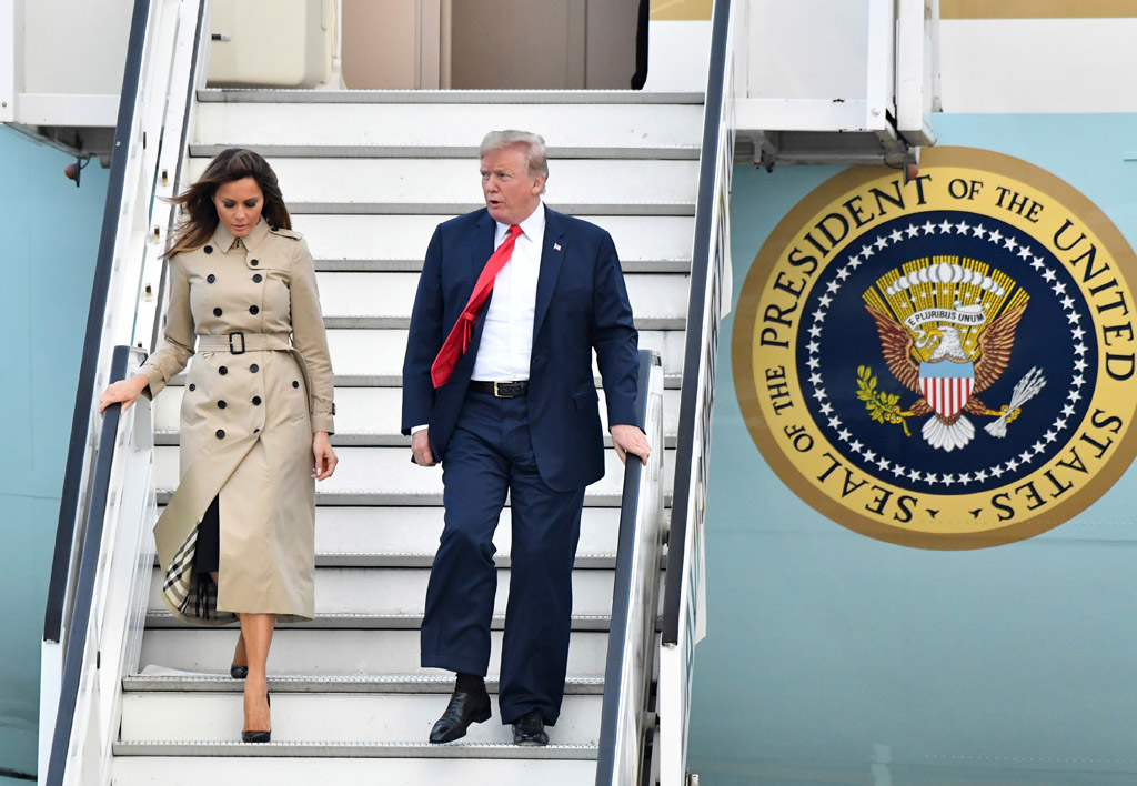 Melania Trump wears Christian Louboutin pumps Belgium