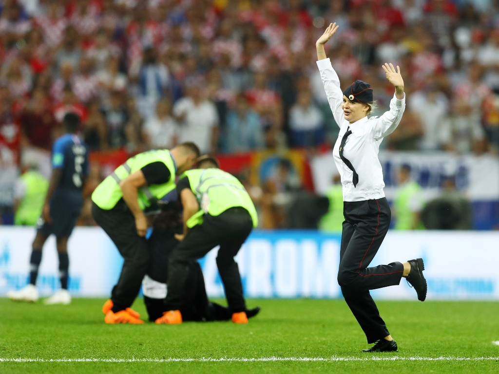 World Cup pitch invaders