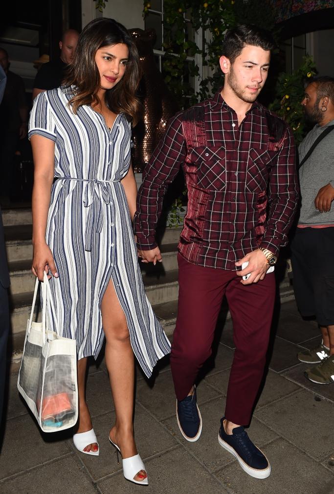 priyanka chopra, nick jonas, street style, couples style