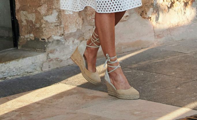 Queen Letizia's Mint & Rose wedges, shoes