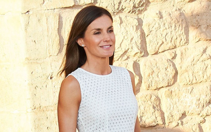 Mint & Rose wedges, Queen Letizia of SpainSpanish Royals at Almudaina Palace, Palma, Spain - 29 Jul 2018