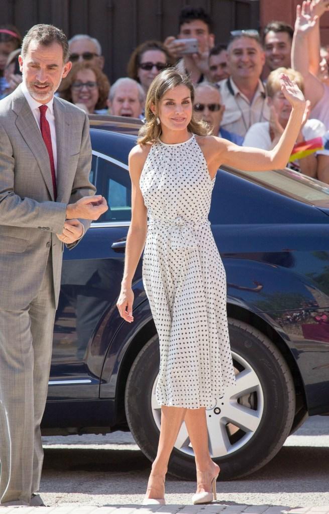 Queen Letizia wears Steve Madden