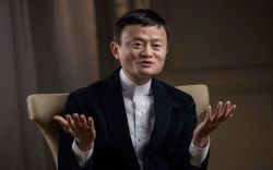 Jack Ma is interviewed by a