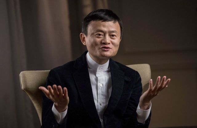 Jack Ma is interviewed by a journalist during the United Nations Commission on Financing Global Education Opportunity meeting.United Nations Commission on Financing Global Education Opportunity meeting, London, Britain - 24 Jan 2016