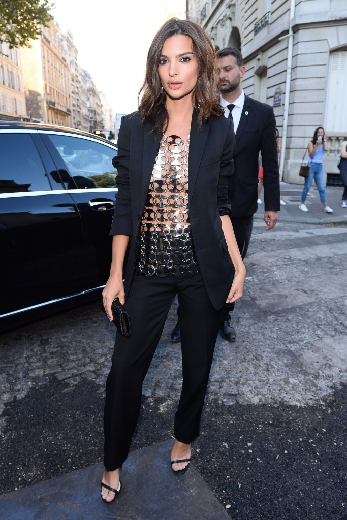 Emily Ratajkowski attended the 'Vogue Paris' Foundation Gala during the City of Light's Haute Couture Fashion Week.