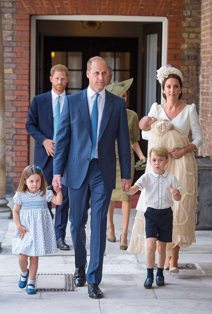 Prince Louis christening, Kate Middleton, Prince William, Princess Charlotte, Prince George, Prince Harry