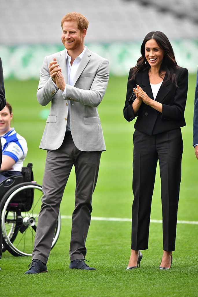 Meghan Markle and Prince Harry visit Croke Park in Dublin.