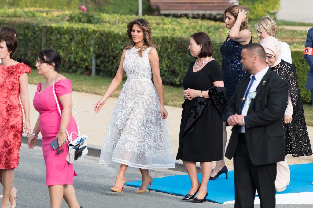 Melania Trump. Nato meeting, family picture at the Parc du Cinquantenaire (Jubelpark) before a working dinnerNATO Summit, Brussels, Belgium - 11 Jul 2018