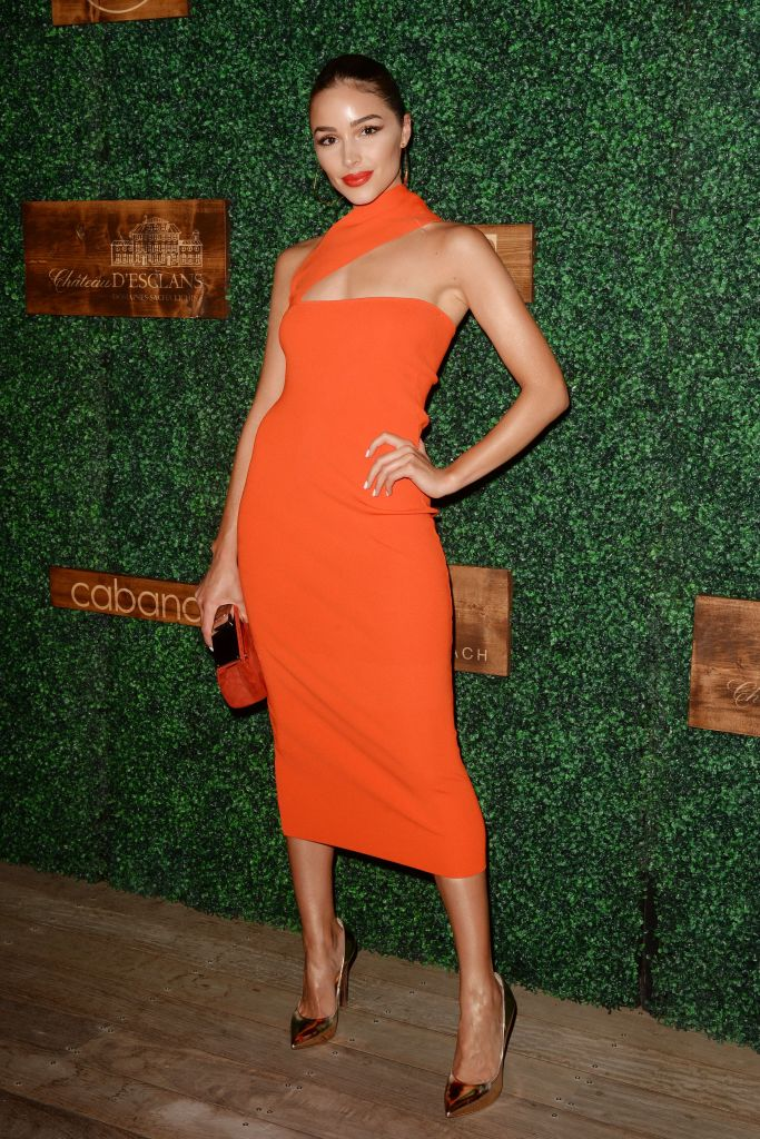 Olivia Culpo attends the 'Sports Illustrated' swimsuit show during Miami Swim Week 2018.