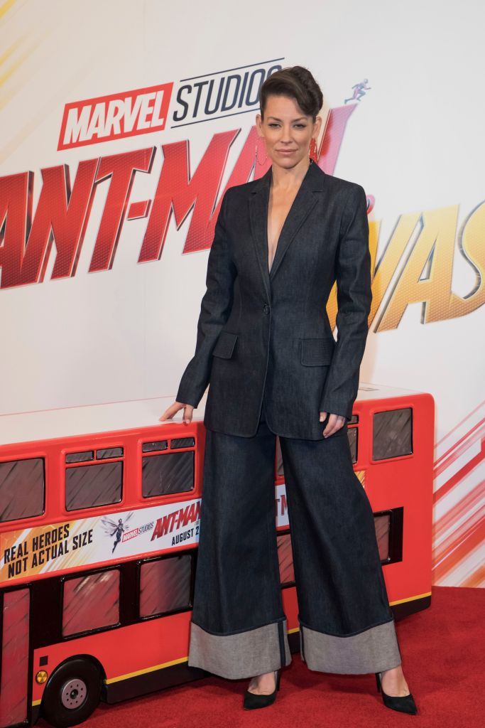 Evangeline Lilly owns the red carpet during a photocall in London for her new 'Ant-Man and the Wasp' movie with Paul Rudd.