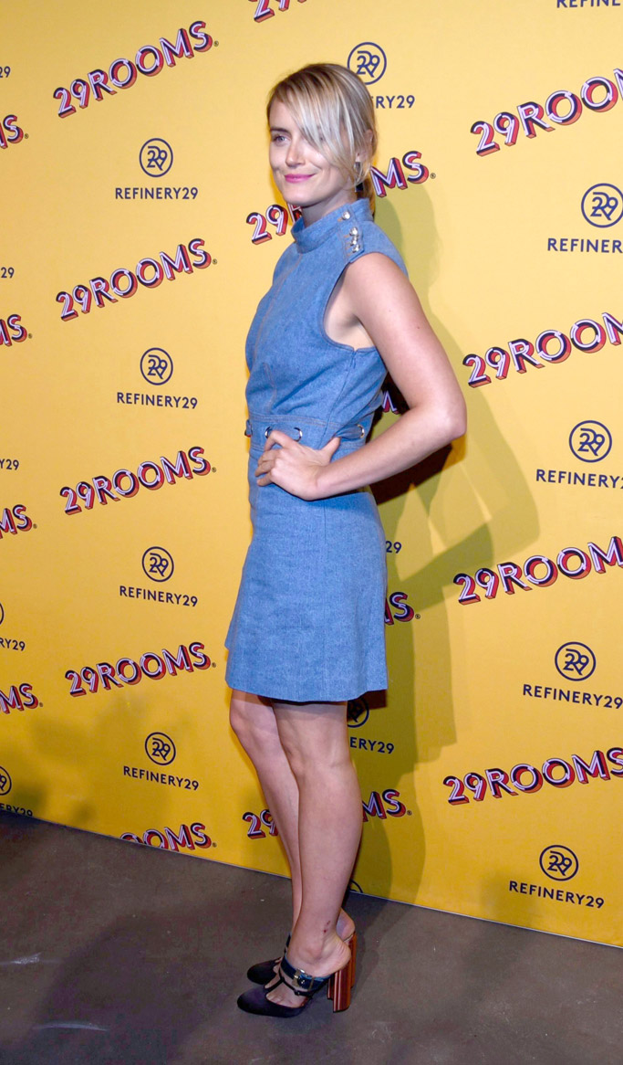 Taylor Schilling, Chloe Gosselin Olympe mules, 29 rooms chicago