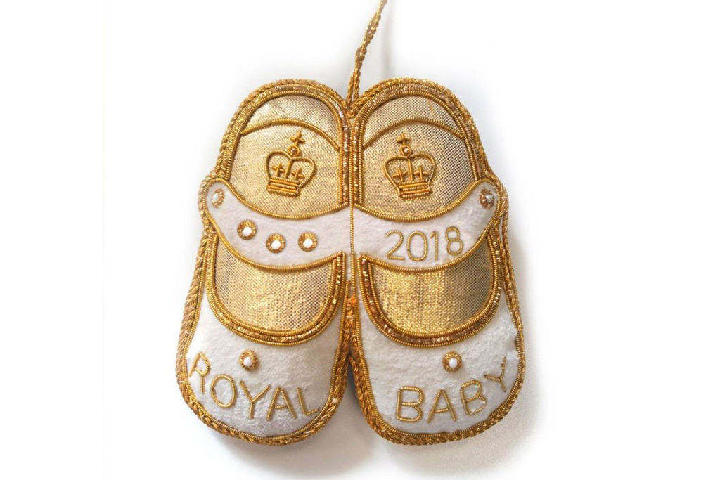 prince charles, prince louis, Royal baby shoe decoration