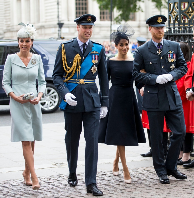 meghan markle, kate middleton, prince william, prince harry, 100th anniversary celebration of the Royal Air Force