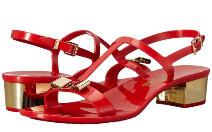 Salvatore Ferragamo pvc thong heel sandal