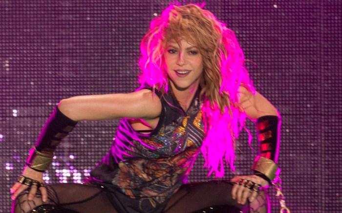 Shakira, el dorado tour, concert, tights, barcelona