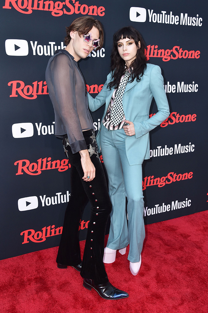 Jack James and Charlotte Kemp MuhlRolling Stone Relaunch presented by YouTube Music, Arrivals, Brooklyn, New York, USA - 26 Jul 2018