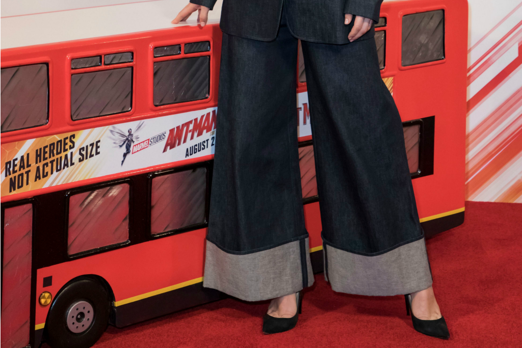 Evangeline Lilly puts on classic black pumps for 'Ant Man and The Wasp' UK press tour.