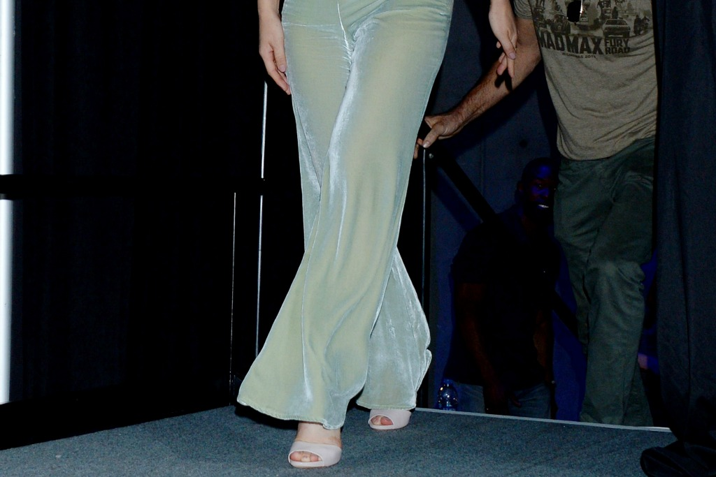 Olivia Munn has on nude sandals at Comic-Con International in California.