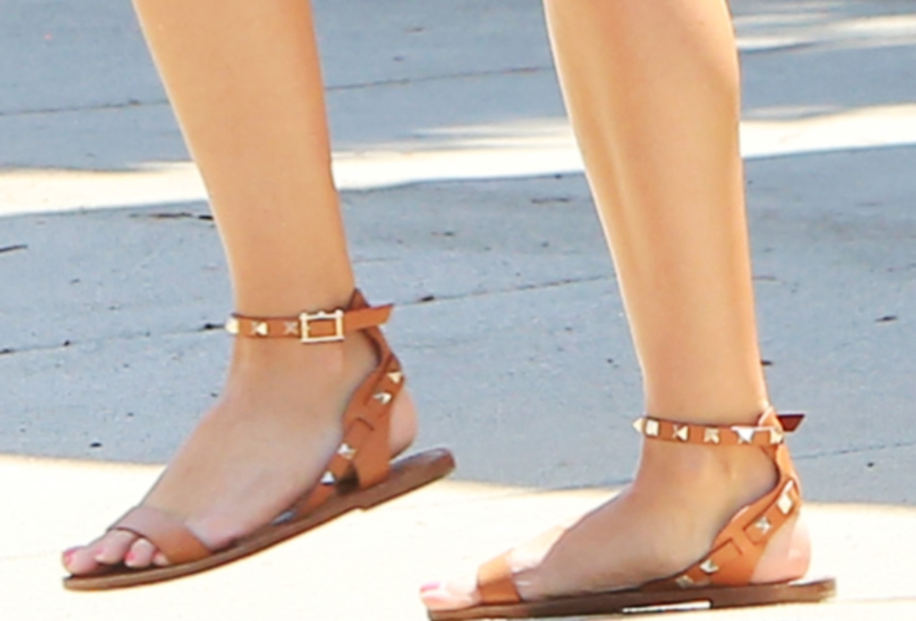 Valentino Rockstud leather sandals, reese witherspoon