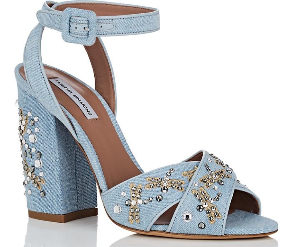 Tabitha SimmonsConnie Embellished Denim Sandals