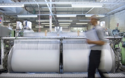 Inside a textile mill