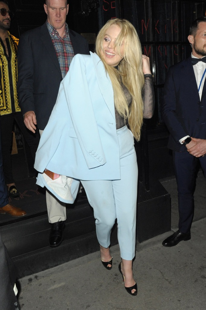 MNKY HSE, Tiffany Trump blue pants, christian louboutin