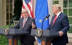 President Donald Trump and European Commission