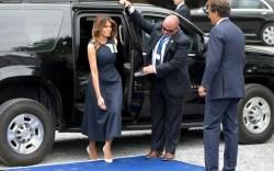 Melania Trump Visits Belgium's Queen Elisabeth Music Chapel