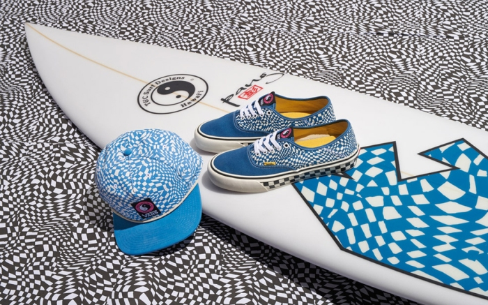 Vans, hat, shoes, surfboard, T&C surf